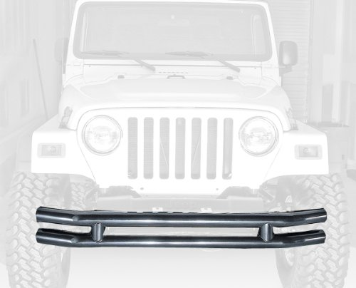 Rugged Ridge 11560.02 Black Front Tube Bumper with Grill Guard ()