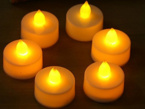 Flameless Candles,  Pack of 6, Electric Fake Candle in Warm White and Wave Open(Batteries not included)