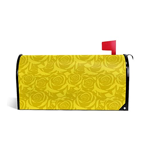 Mailbox Covers Standard Size Magnetic Mail Cover Yellow Cabbage Roses Wraps Letter Post Box Cover 21