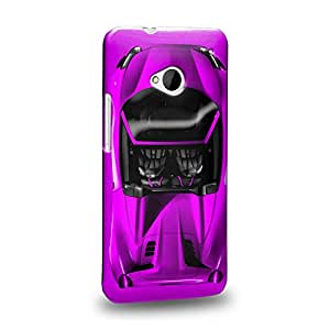 Case88 Premium Designs Art Collections Hand Drawing Sport Car Purple Carcasa/Funda dura para el HTC One M7