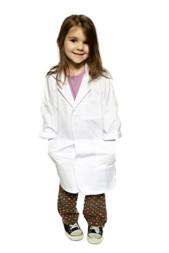 Kid's Lab Coat by Working Class - Durable Lab Coats for Kid Scientists or Doctors, White, (Ages 2-3) ()