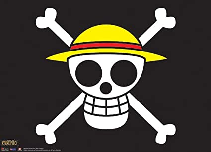 Gran entretenimiento oriental One Piece El sombrero de paja Piratas Bandera  desplazamiento de pared c511974680b