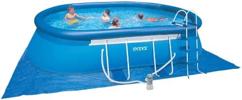 INTEX 54432 GS – Marco de Piscina Set ovalada, aprox. 549 x 305 x ...