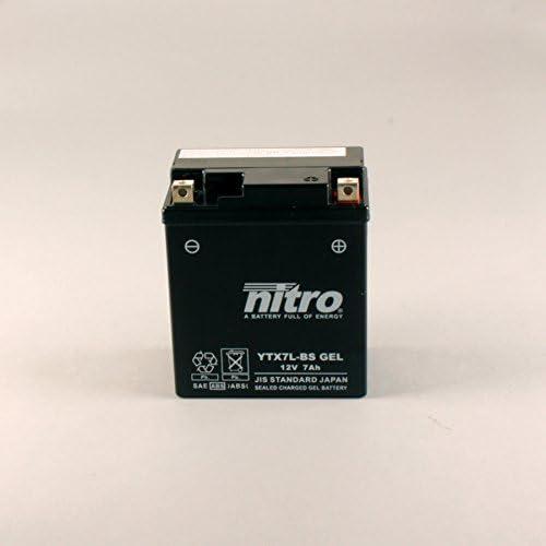 Nitro Ytx7l Bs Gel N Ytx7l Bs Gel Agm Geschlossen Schwarz Größe Na Auto