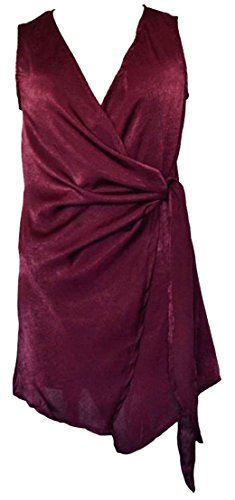 Dresses Neck Claret Bandage Bowknot Irregular Summer Bodycon Cromoncent Womens V nw8HxT4