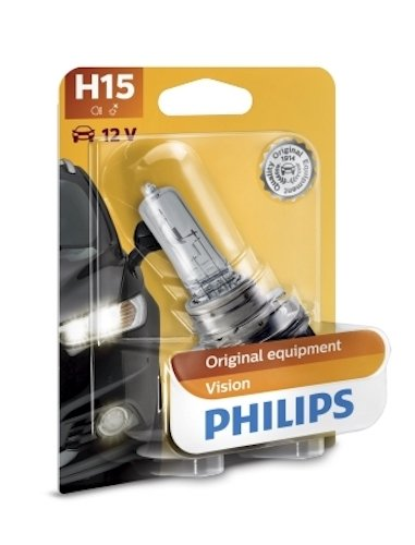 Philips 12580B1 H15 Standard Halogen Replacement Headlight Bulb, 1 Pack by PHILIPS