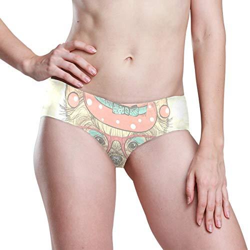 - Love beautiful Yorkshire Terrier Girl Womens Hipster Panties Seamless Low Rise Cheekini Panty Bikini Underwear