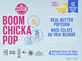 Angie's Boom Chicka Pop Microwave Popcorn, Real Butter - 4 Bags, 1 Count