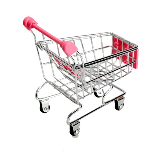 Amazon.com: Whitelotous Mini Supermarket Handcart Shopping Utility Cart Mode Storage Toy Red New: Office Products