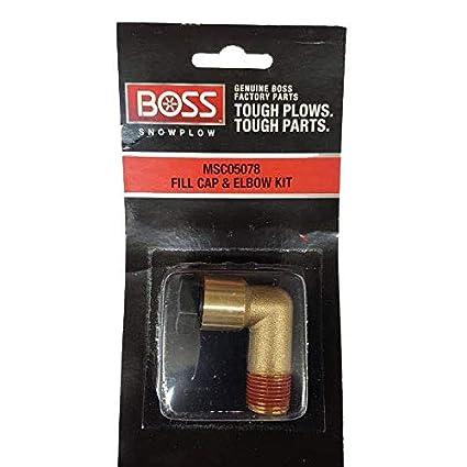 MSC05078 Boss Snow Plow Fill Cap /& Elbow Kit