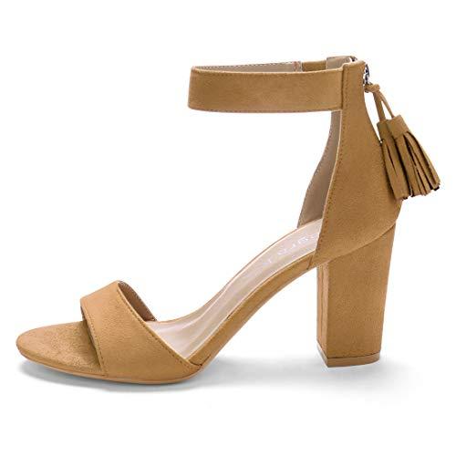 Ankle Allegra Sandals Women Brown K Strap Tassel wxCqfS