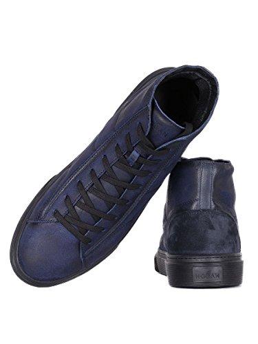 Hogan Hi Top Sneakers Uomo HXM3400J560HTQ297Q Pelle Blu