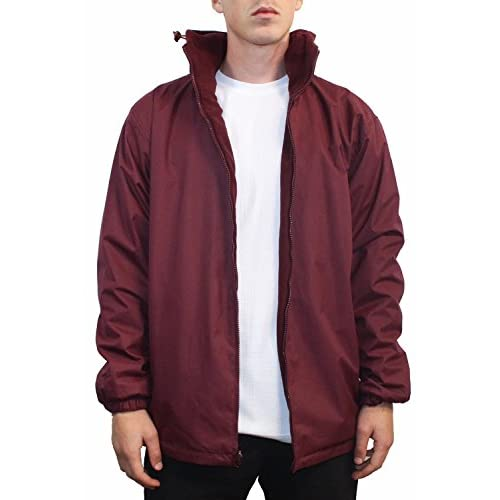 chic Maxxsell Mens Reversible Fleece Lined Hooded Windbreaker Rain ...