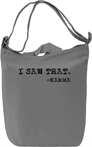 Karma T-shirt Borsa Giornaliera Canvas Canvas Day Bag| 100% Premium Cotton Canvas| DTG Printing|