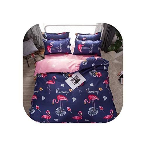 QianQianStore Bedding Set Summer Fruit Duvet Cover Queen King Nordic Style Bedding Bed Linen Grey Flat Sheet Blue Bedclothes Super King bedset,Love rosebird,Full Banana Fish 4 Piece Crib