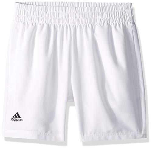 (adidas Youth Club Tennis Short, White/Black, X-Large)