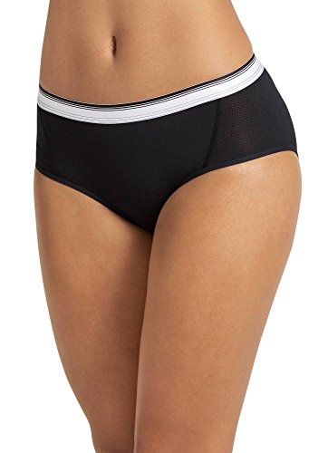 (Jockey Women's Underwear Sporties Mesh Hipster, Black, 8)