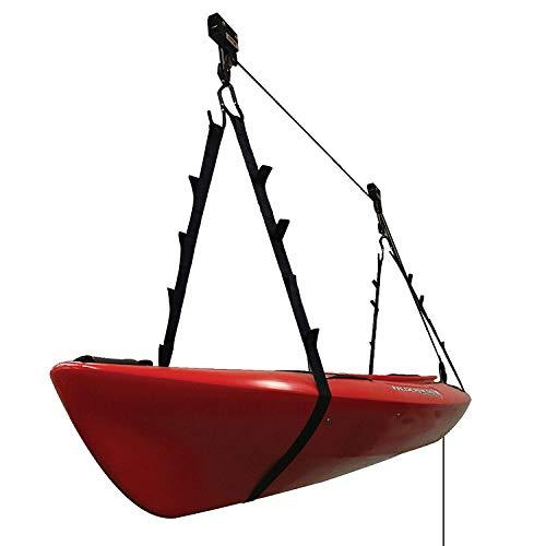 Extreme Max 3004.0204 Kayak/Canoe/Bike/Ladder Hoist & Lift for Storage in Shop or Garage - 120 lb. - System Hoist Pulley