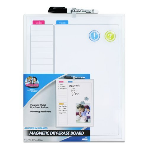 Aluminum Framed Sleek Line 11 Inch X 14 Inch Dry-Erase Board by The Board Dudes