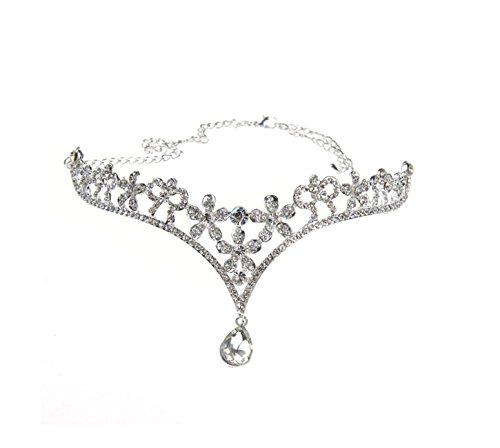 Wiipu Rhinestone Wedding Tiara Crown Teardrop Bridal Headband(n134)