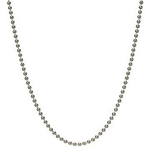 nk Ball Beaded Chain Necklace & Bracelet Italian .925 Sterling Silver 7