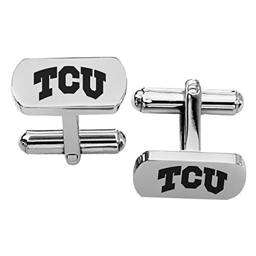 Texas Christian Horned Frogs TCU Rectangular Shape Stainless Steel Cufflinks - Cufflinks Horned Tcu Frog
