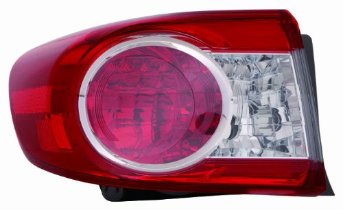 Depo 312-19A8L-US Toyota Corolla Driver Side Outer Tail Lamp Assembly with Bulb and Socket Depo Toyota Corolla Driver