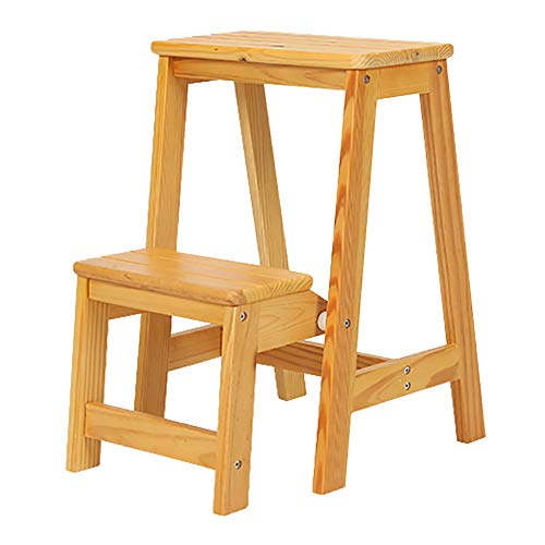 Stool Wooden Flip - LXF Step stool 2 Tier Flip Ladder for Adults, Wooden Multi-function Step Stool, Non-slip Widening Pedal