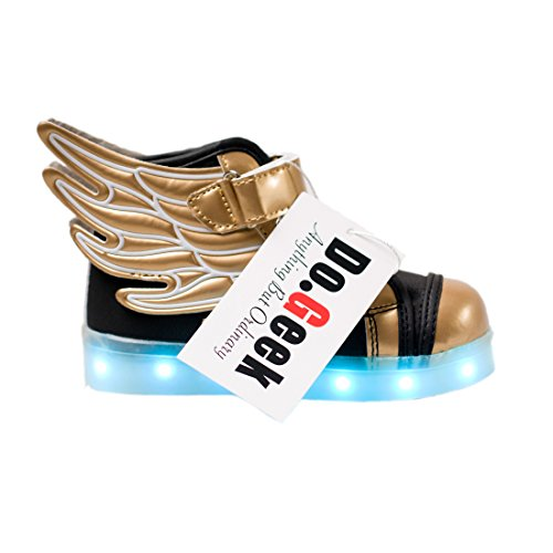 [DoGeek Light Up Shoes Athletic Wings Led Shoes Children Light up Sneakers Boy Girl Dance Trainers (32,] (Light Up Angel Wings)