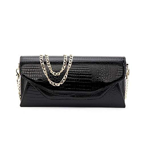 Classic Femme Get Fashion Main DHFUD Pour Simple Black Chaîne à PU En Together Sac PYPwy6qF7