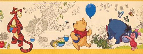 Winnie The Pooh Eeyore Piglet Beige DK5839BD Wallpaper Border ()