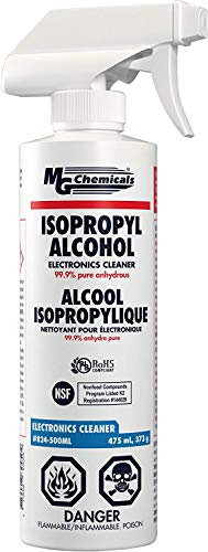 MG Chemicals 99.9% Isopropyl Alcohol Electronics Cleaner, 475 mL Trigger Spray Bottle (Limited Edition)