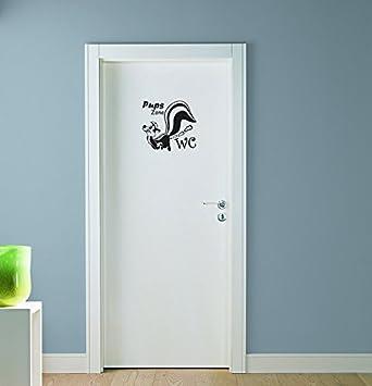 Stinktier Wandtattoo Pups Zone WC Badezimmer Toiletten Türaufkleber ...