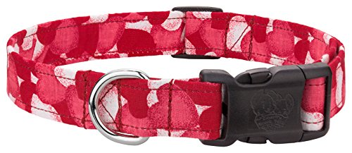 Country Brook Design Valentine Passionate Hearts Designer Dog Collar-L