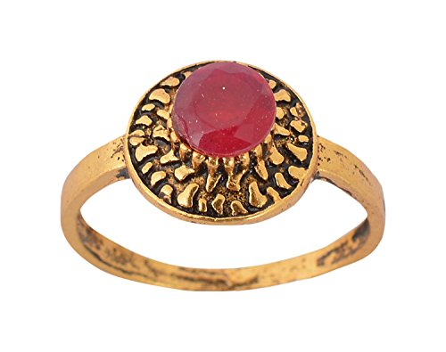 Handicraft Kottage Girl's Gold Plated Ring - Size: 11 (AGRING-005) by Handicraft Kottage