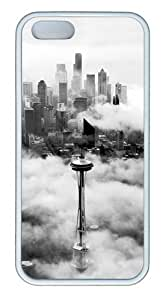 Seattle Space Needle Tower TPU Silicone Rubber iPhone 5 and iPhone 5S Case Cover - White