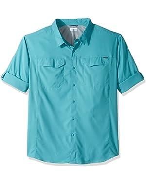 Men's Big-Tall Silver Ridge Lite Long Sleeve Shirt, Teal, 4X