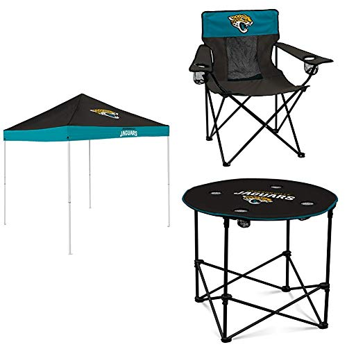Logo Brands Jacksonville Jaguars Tent, Table and Chair Package