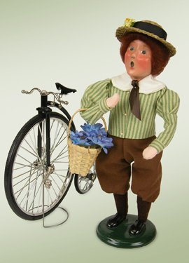 Byers' Choice Girl with Bicycle (448G)