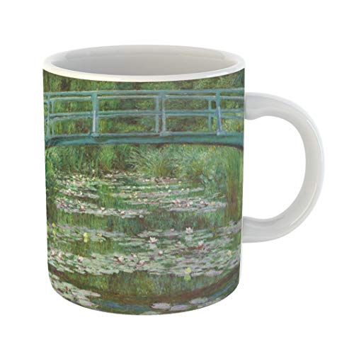 Emvency Coffee Tea Mug Gift 11 Ounces Funny Ceramic the Japanese Footbridge By Claude Monet 1899 French Impressionist Painting Oil Gifts For Family Friends Coworkers Boss Mug