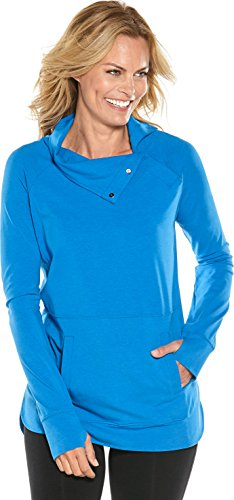 Coolibar UPF 50+ Women's Funnel Neck Top - Sun Protective (3X- Brilliant Blue) by Coolibar