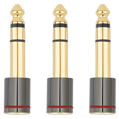 6.35mm(1/4-Inch) Male Stereo Plug to 3.5mm(1/8-Inch) Female Stereo Jack Connector (3-Pack)