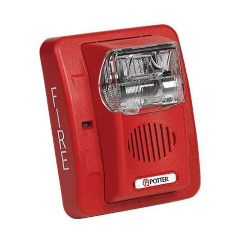 Potter Electric Signal HS-24WR(4890030) 24V Dc Wall Mount Horn Strobe Red Body