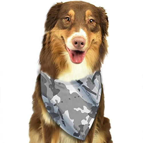(Sourde Customized Drapery Camouflage Fabric Textile Background Classic Pet Dog Scarf Washable Adjustable Triangle Pet Scarf Bow, Suitable For Small And Medium Pets)