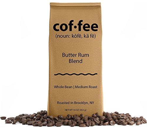 Butter Rum Blend Whole Bean Coffee, Medium Roast, 1-Pound Bag ()