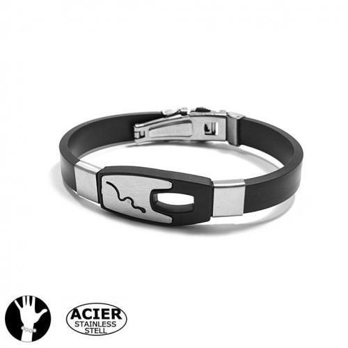 Bracelet homme acier - serpent