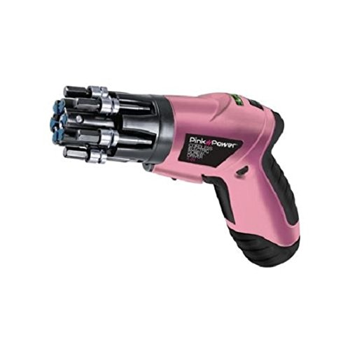Pink PP481-LK Electric Screwdriver Cordless 4.8V Drill Kit for Women & Bubble Level New