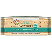Earth's Best Chlorine-Free Wipes, Refill Pack, 72 count, Pack of 12