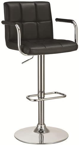 Coaster Contemporary Leather Upholstered Adjustable
