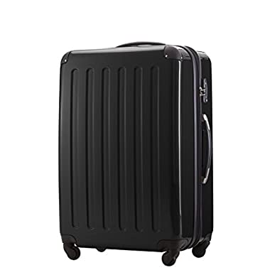 HAUPTSTADTKOFFER - Alex-Luggage Suitcase Hardside Spinner Trolley Expandable 28¡° TSA Black